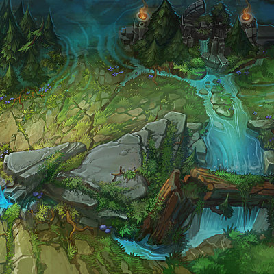 Trent kaniuga aquatic moon trent kaniuga summoners rift league of legends concept art
