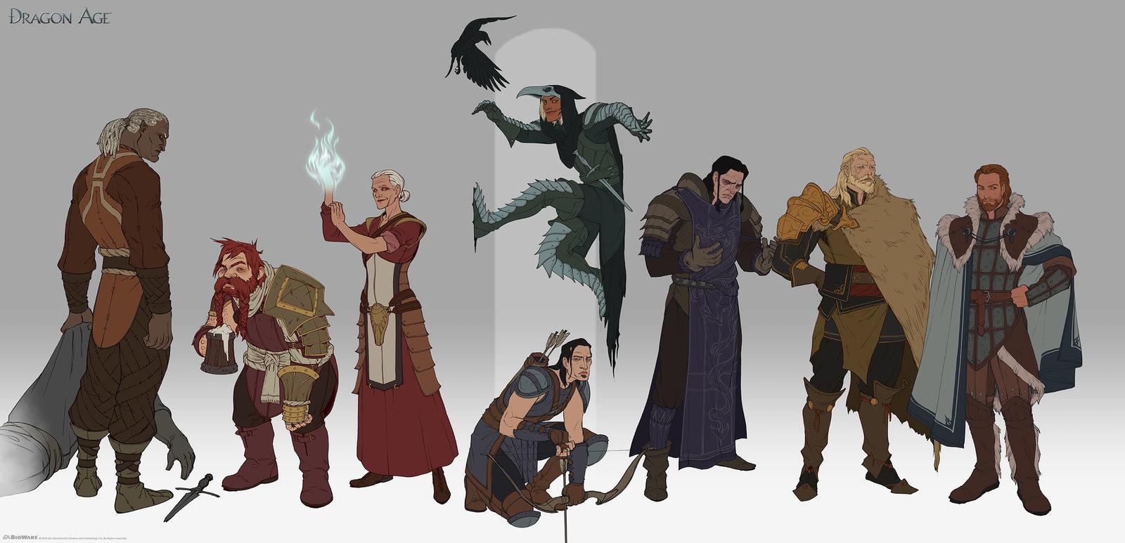 World of Thedas 2 - Some of the cast of DA:O