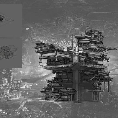 Jie zhou undercity concept final sketch