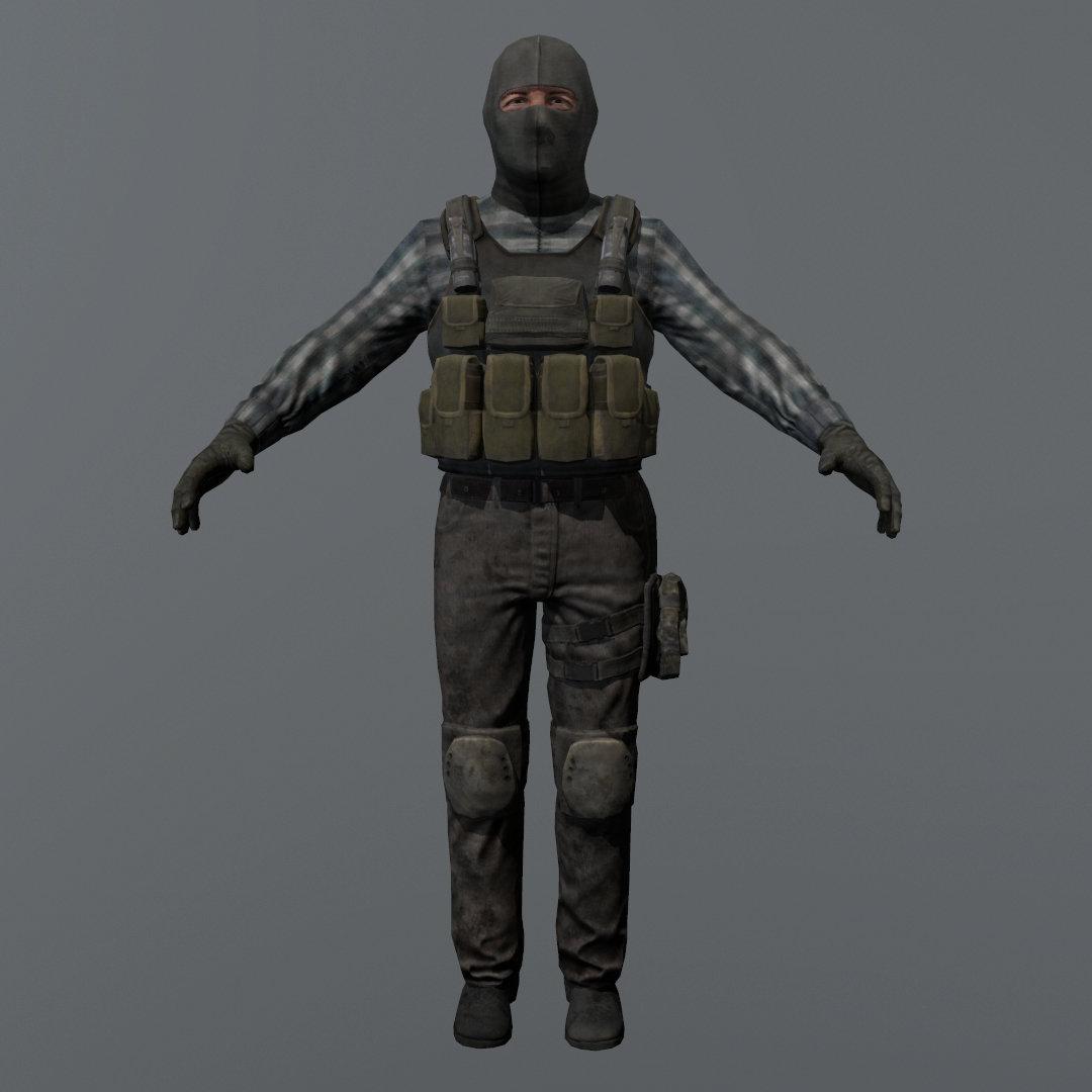 Terrorist Game Ready Model
