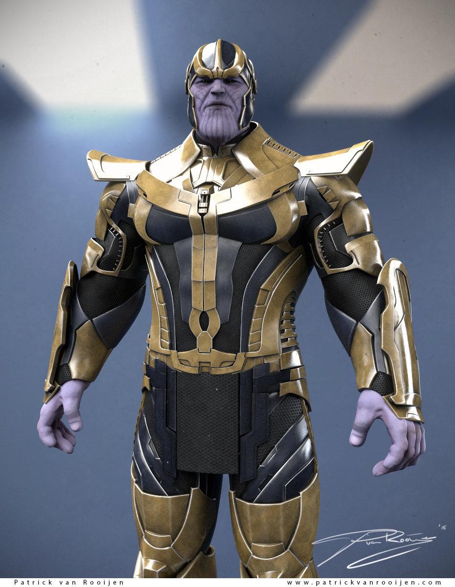 thanos armor 3d model