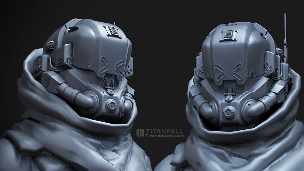 ArtStation - titanfall helmet, Robb Shoberg