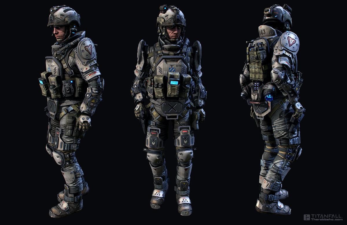 Artstation Titanfall Pilot Cqb Robb Shoberg