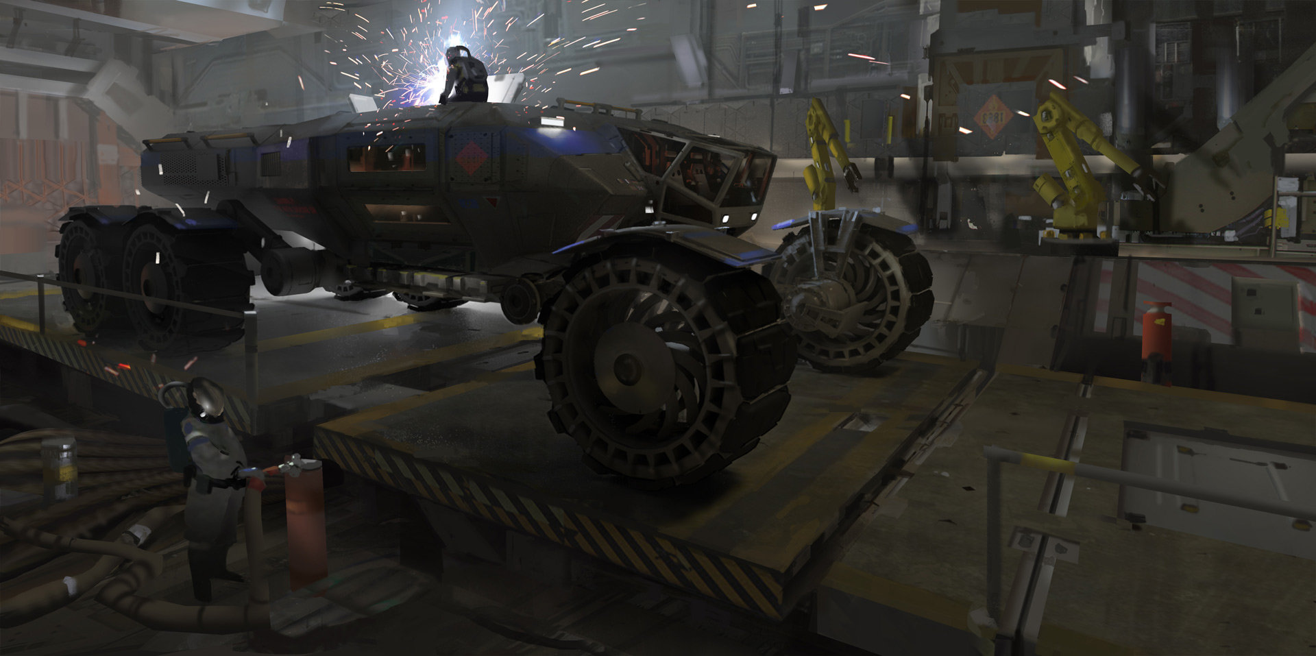 Heavy Martian Rover + steps