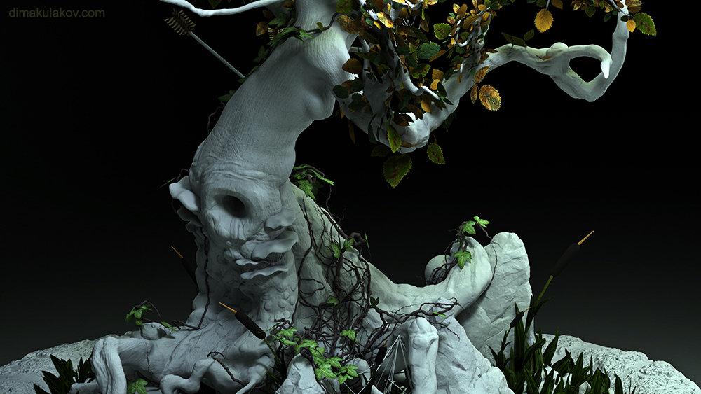 Tree Scene - Vray