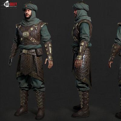 Mashru mishu persian warrior lowpoly02