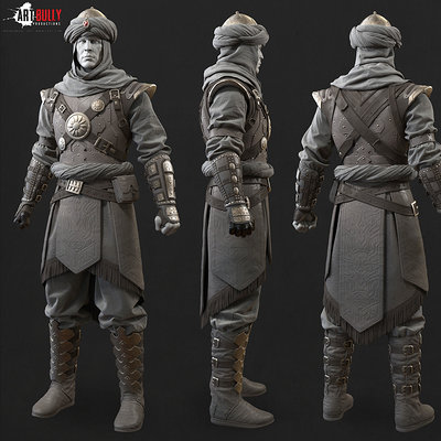 Mashru mishu persian warrior highpoly01