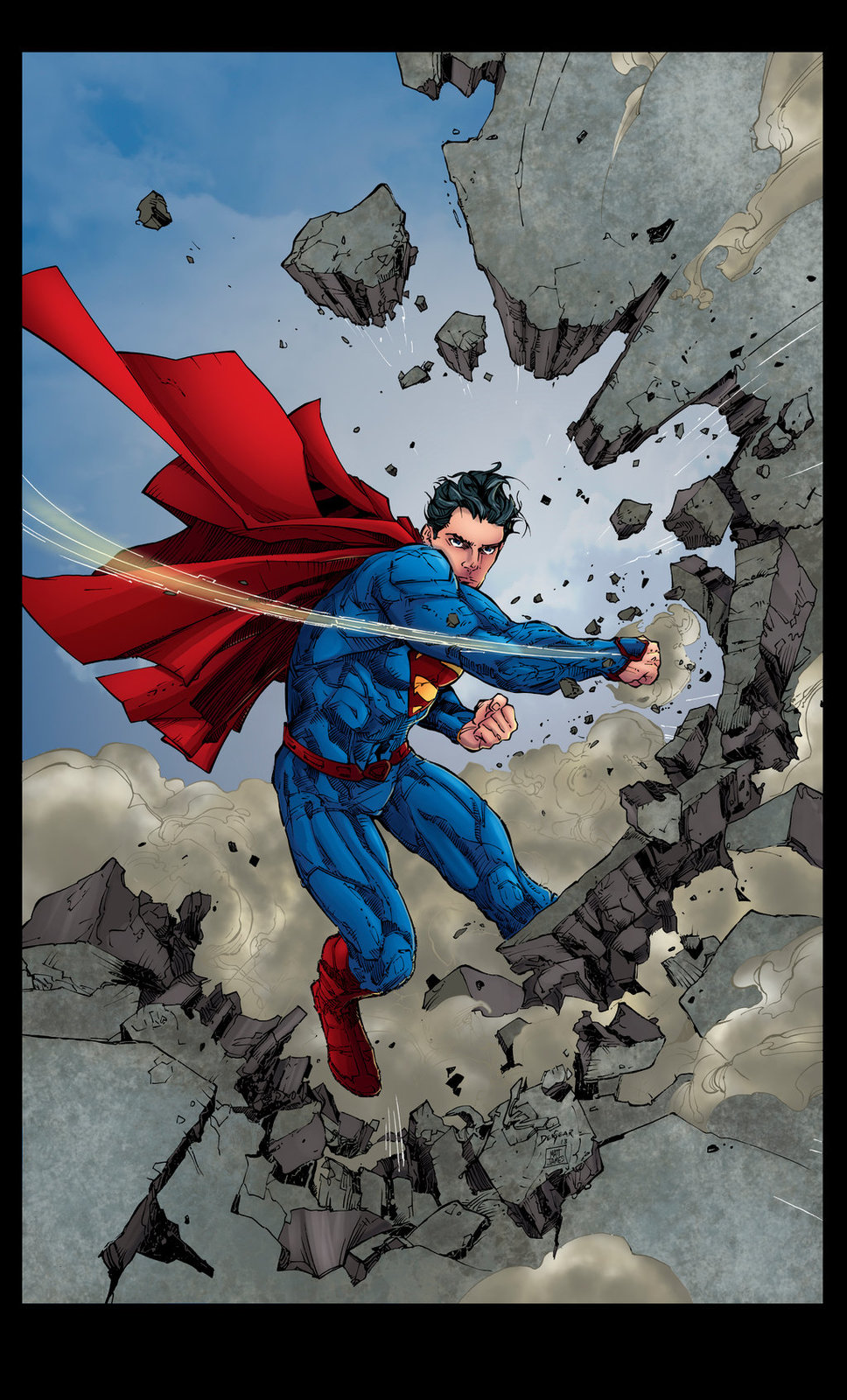 Superman 13 Cover (Sample Colours)