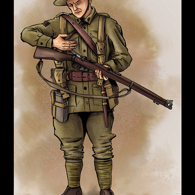 Matt james anzac digger by mattjamescomicarts d8pqi1r 1