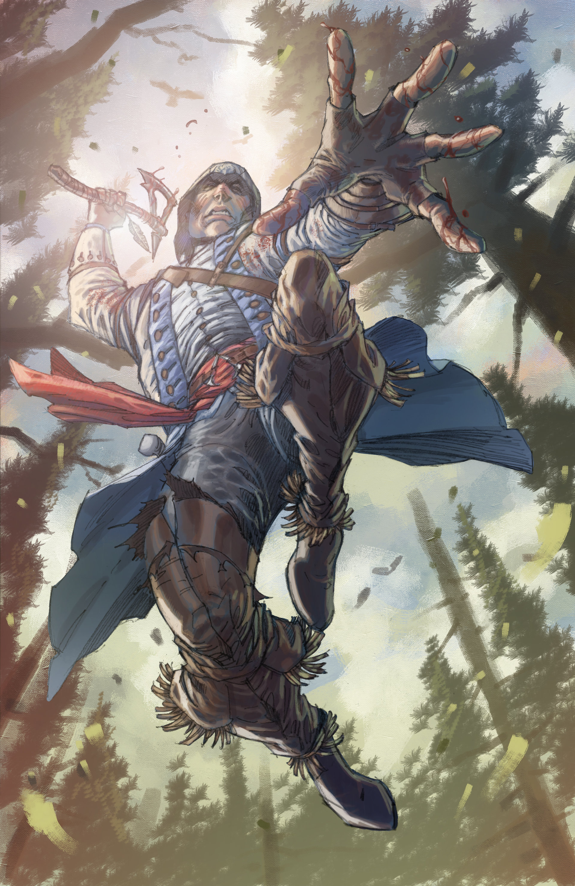 Artstation Connor Kenway Fan Art Sumit Kumar