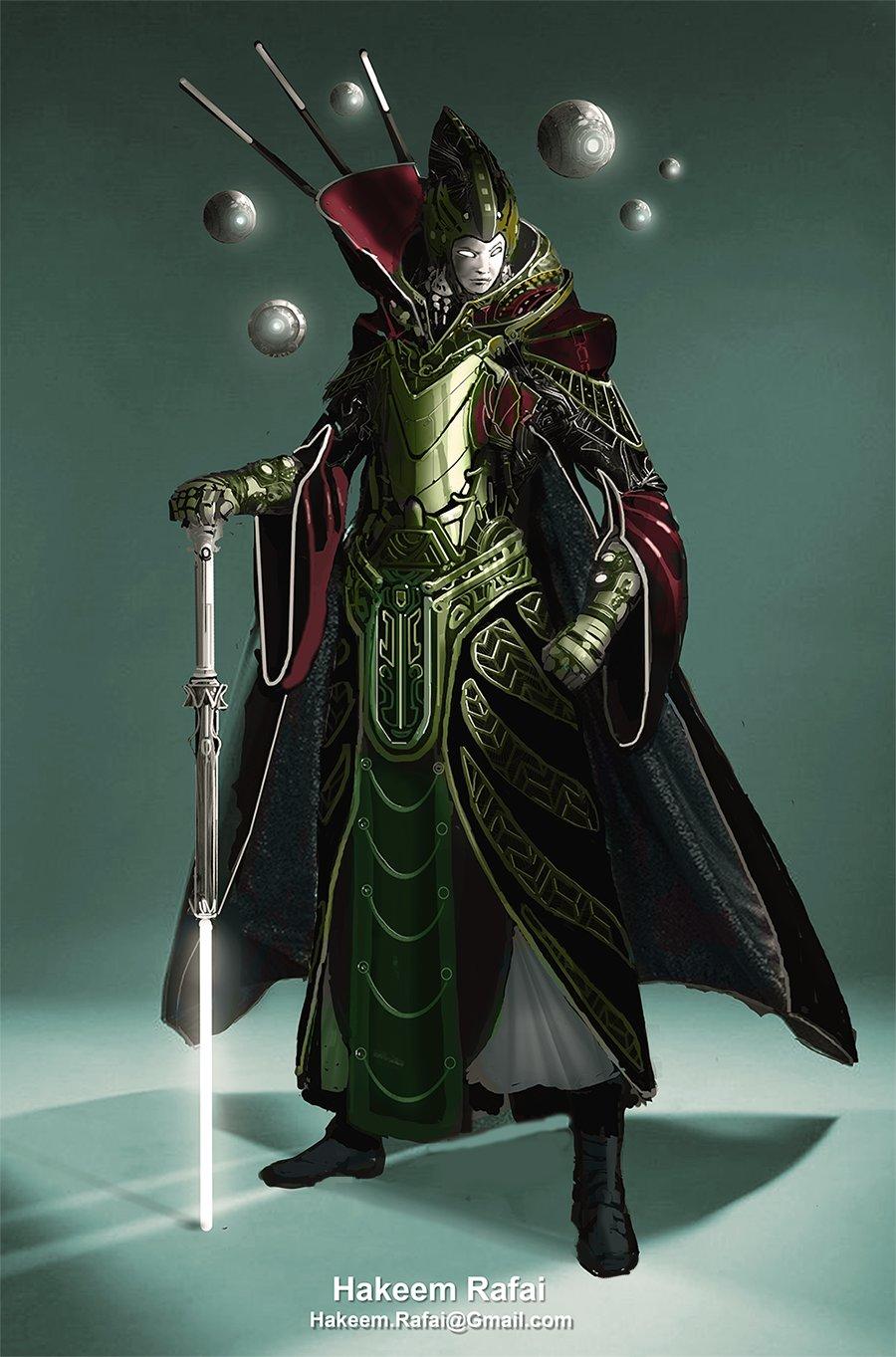 Sci fi warrior Shaman