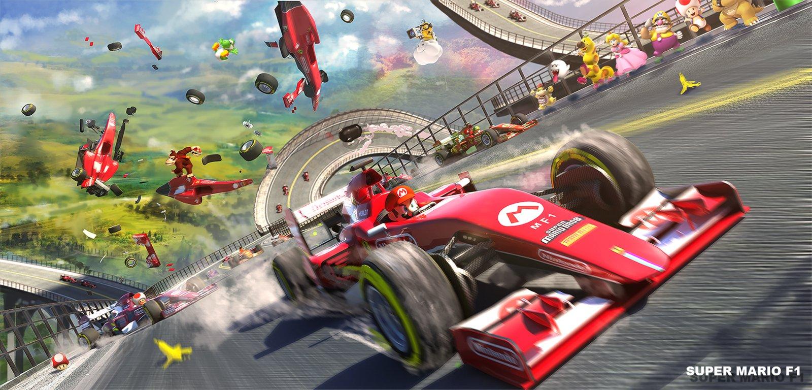 Fanart Super Mario Formula 1