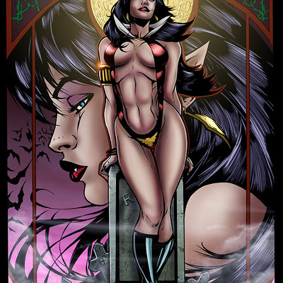 Matt james vampirella by mattjamescomicarts d8b0dil