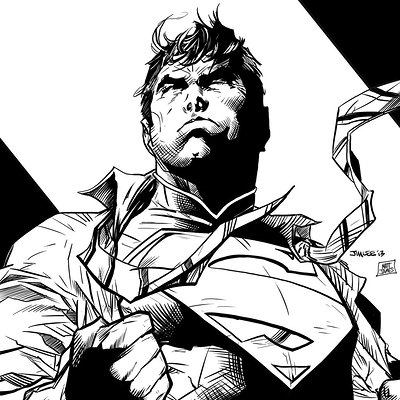 Matt james jim lee superman by mattjamescomicarts d8b0dow
