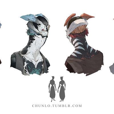 Chun lo alien head study chun lo