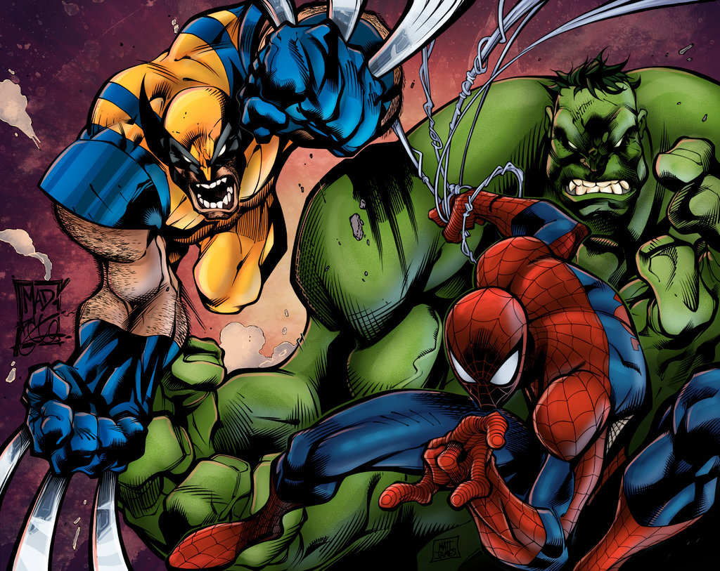 Joe Mad Rules! (Wolvie, Spidey and the Hulk)