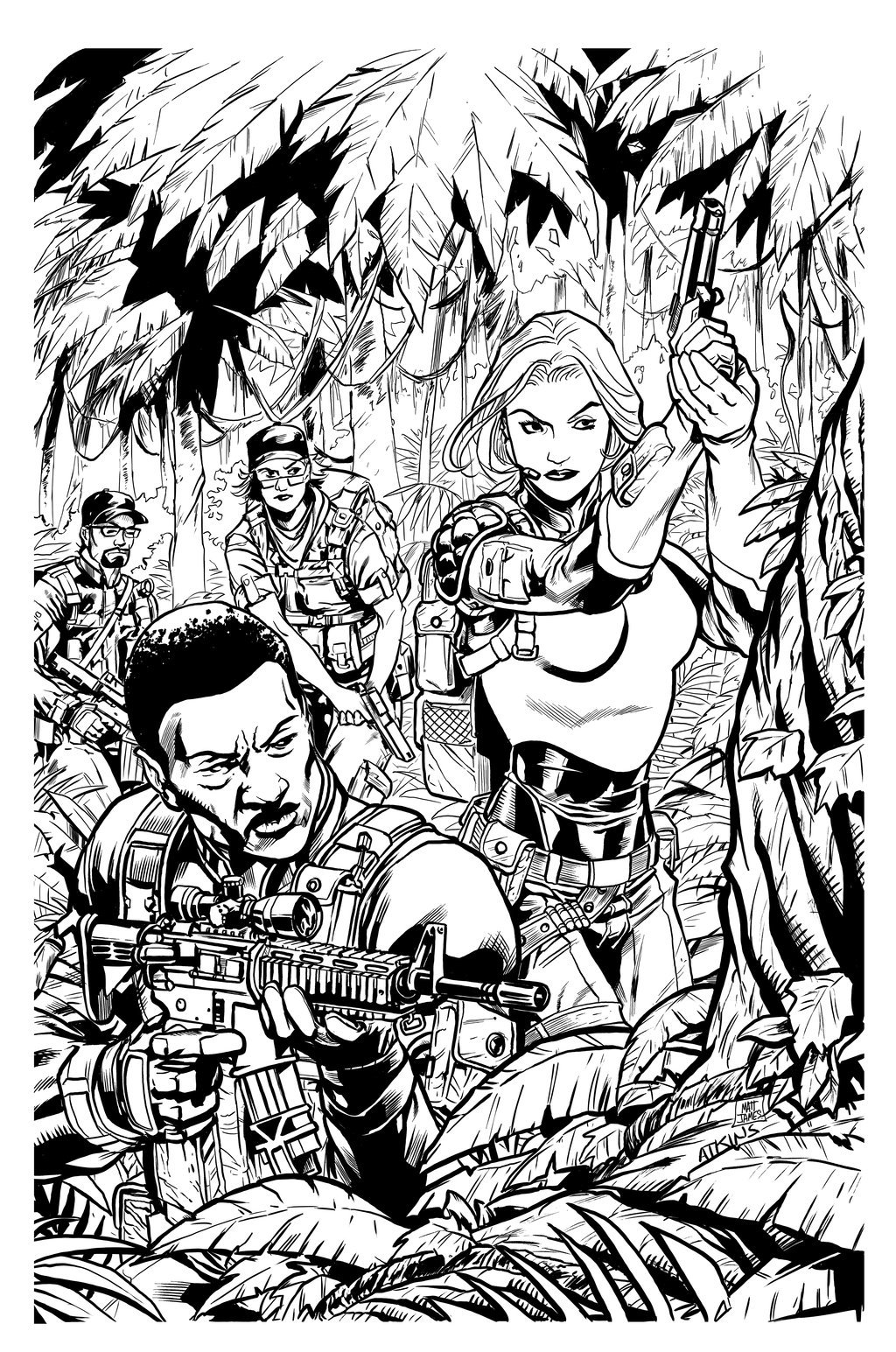 G.I. Joe 20 Cover (Ink Sample)