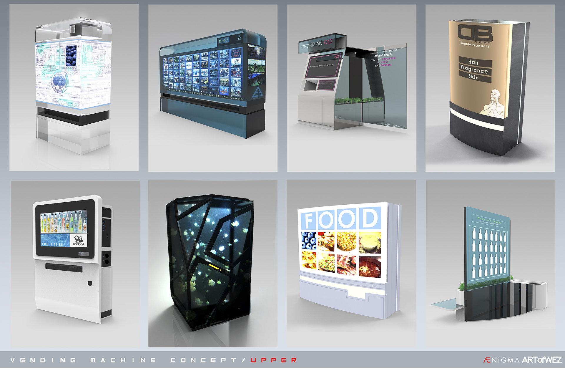 Artstation Aenigma Vending Machine Concept Art 2