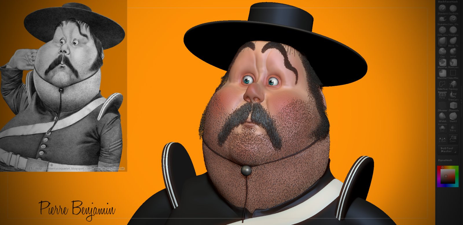 Sergent Garcia WIP Speed sculpt zbrush  based on 2D concept by Thierry Coquelet