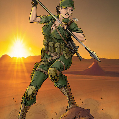 Matt james g i joe s lady jaye by mattjamescomicarts d810qkn