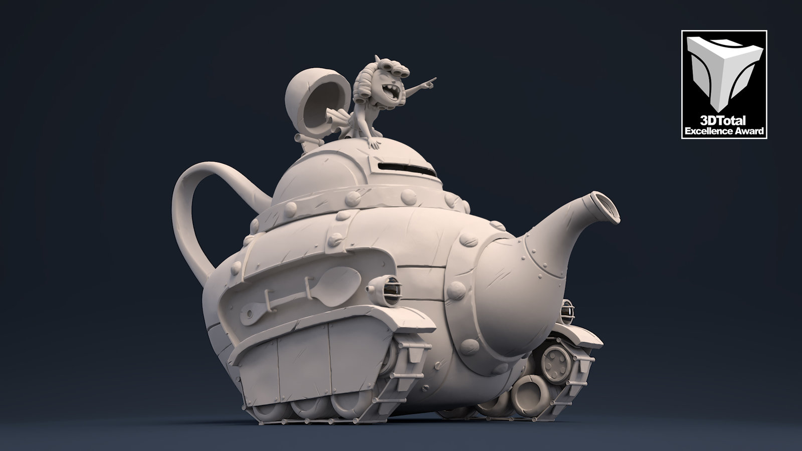Rolling Teapot - Pixar's Renderman