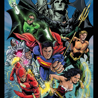 Matt james justice league by mattjamescomicarts d7z7o12