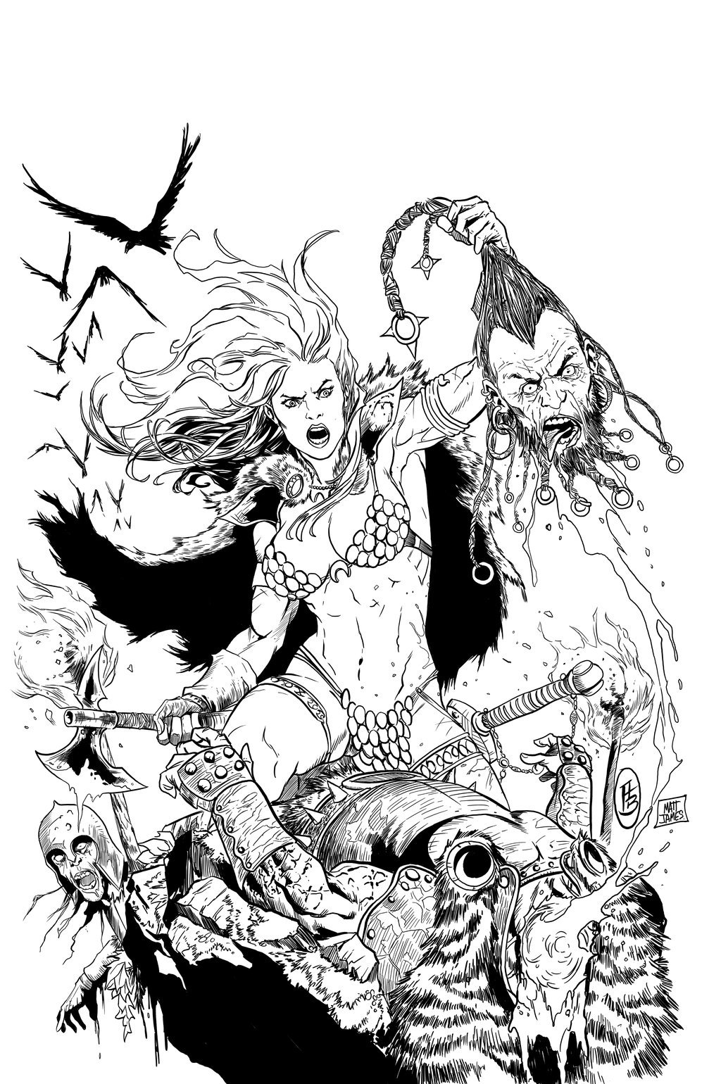 Red Sonja Cover #32 (Sample Inks)