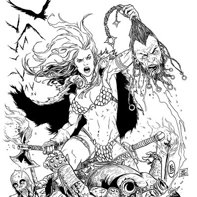 Matt james red sonja cover 32 by mattjamescomicarts d7xgnof