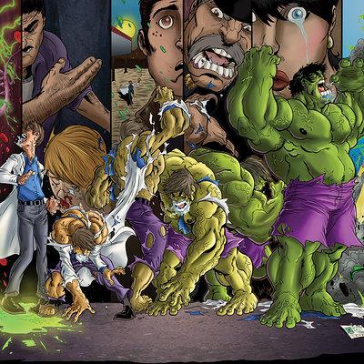 Matt james transformation of hulk by mattjamescomicarts d7uhuax