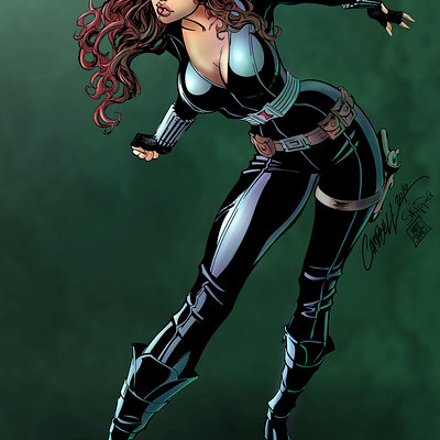 Matt james black widow by mattjamescomicarts d7niuvn