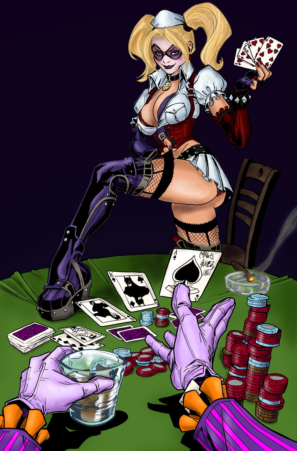 Harley Quinn Strip Poker