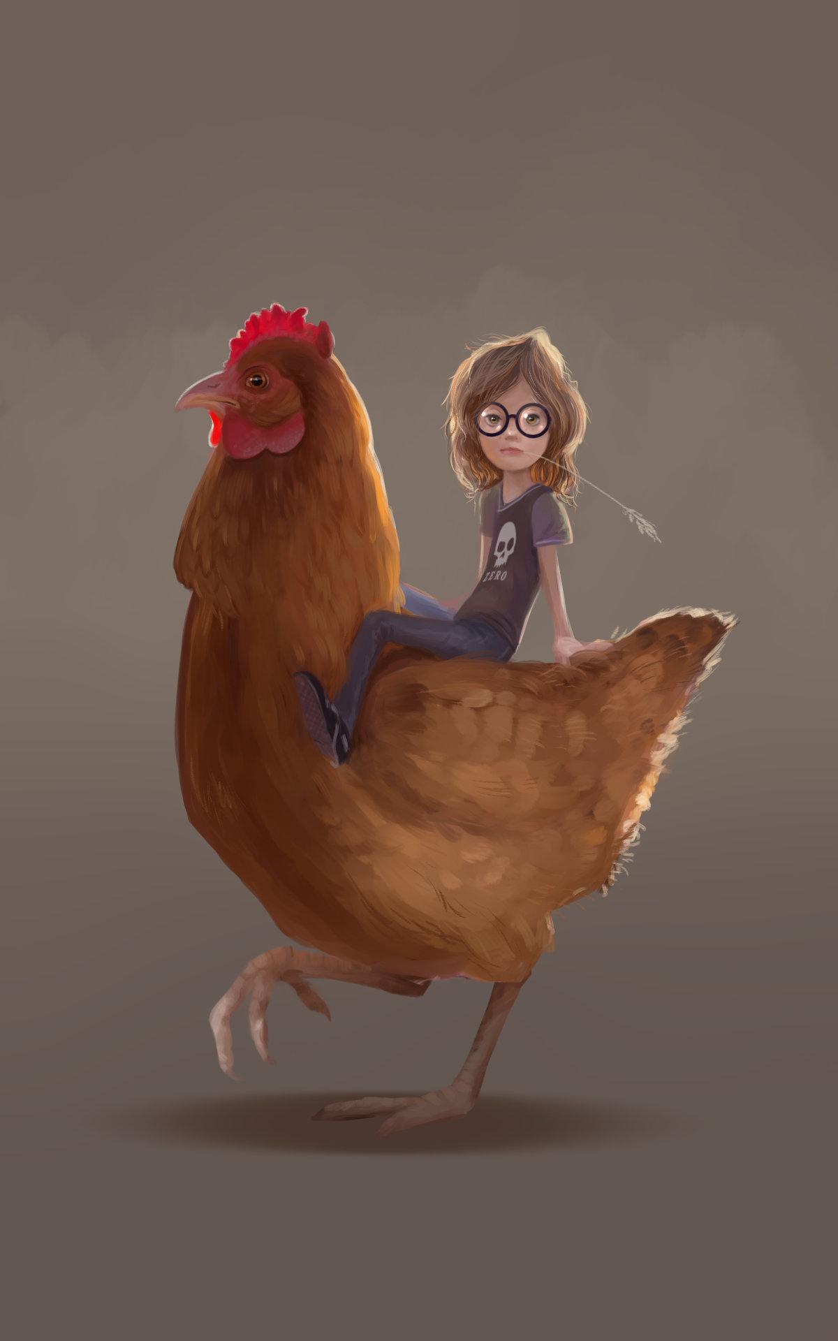 Girl & Chicken