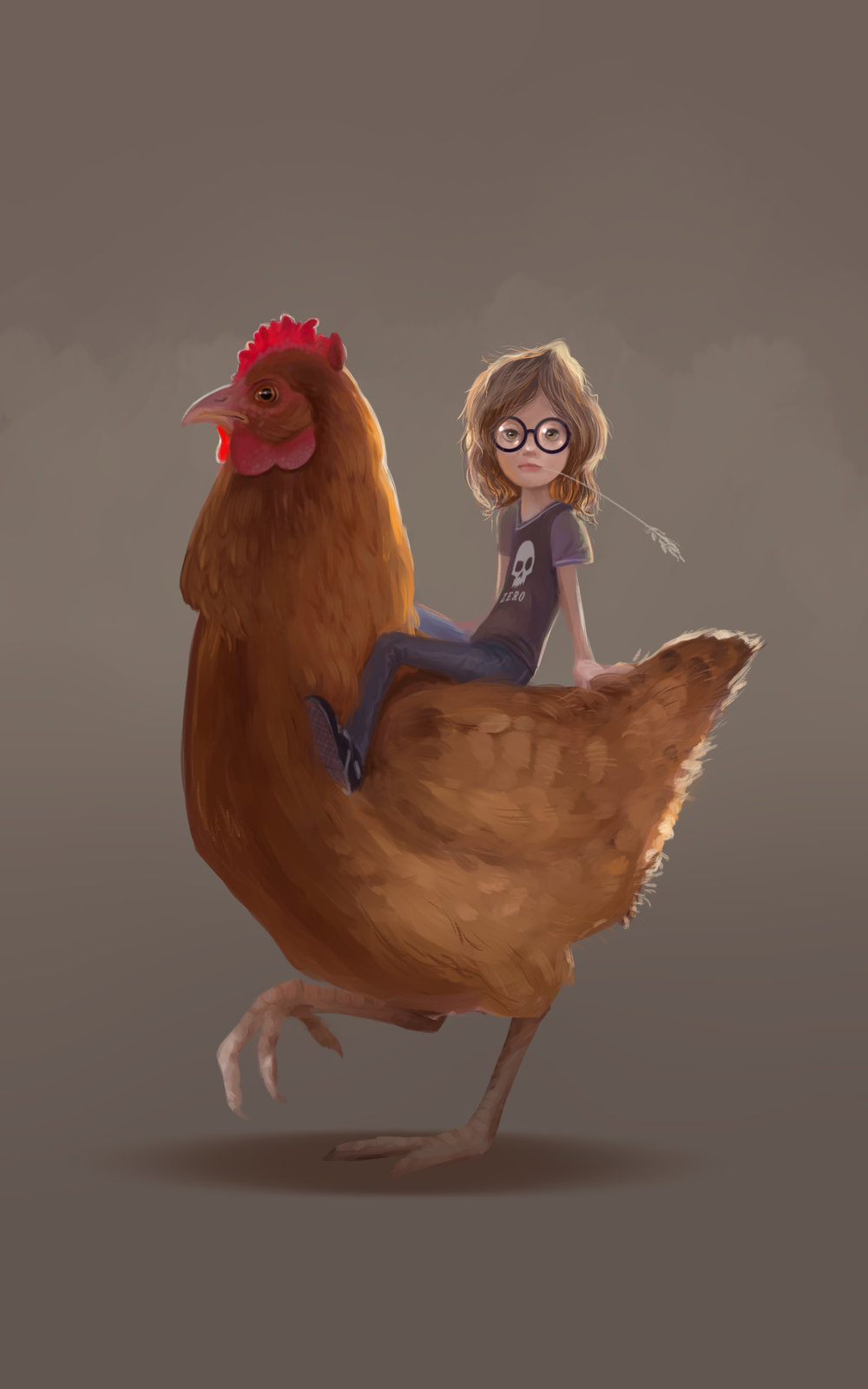 Girl & Chicken