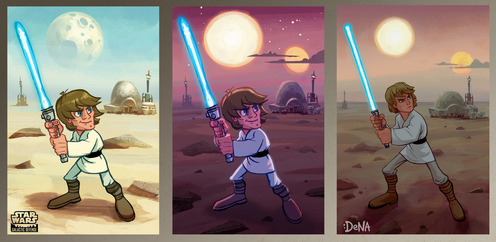 concept work for a Star Wars video game on Ipad