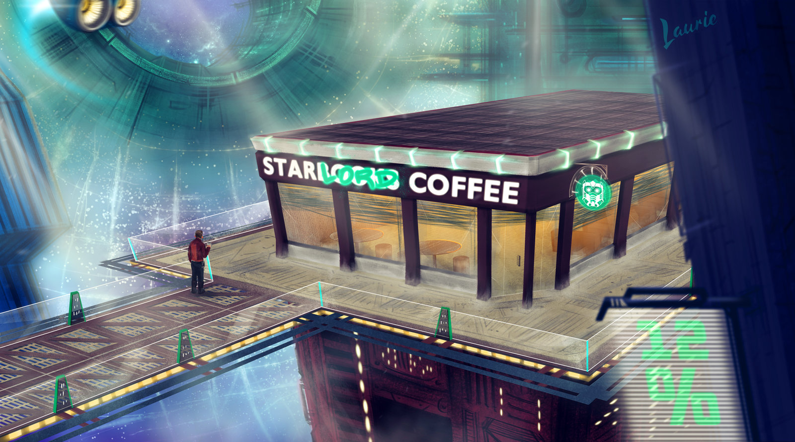 Star-Lord's Coffee Shop in Knowhere