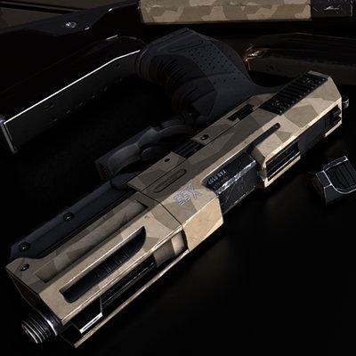 Realtime Sci-Fi Pistol