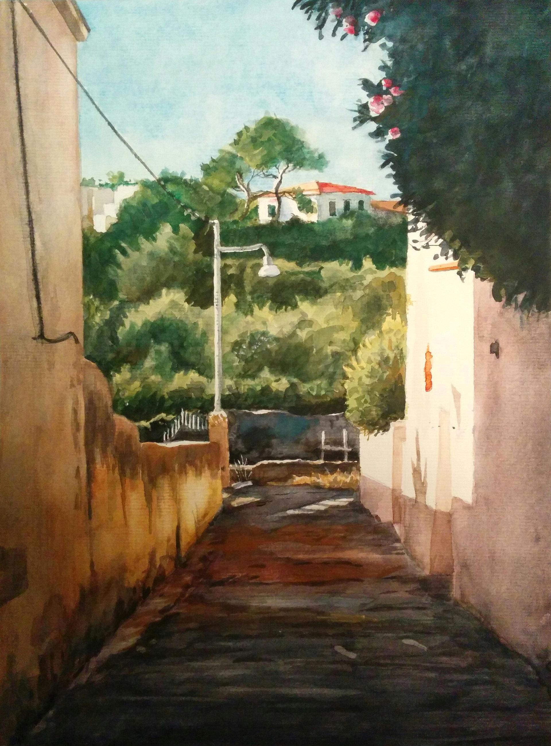 Little alley in Antignano