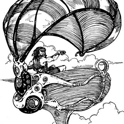 Airship#03-inktober #06
