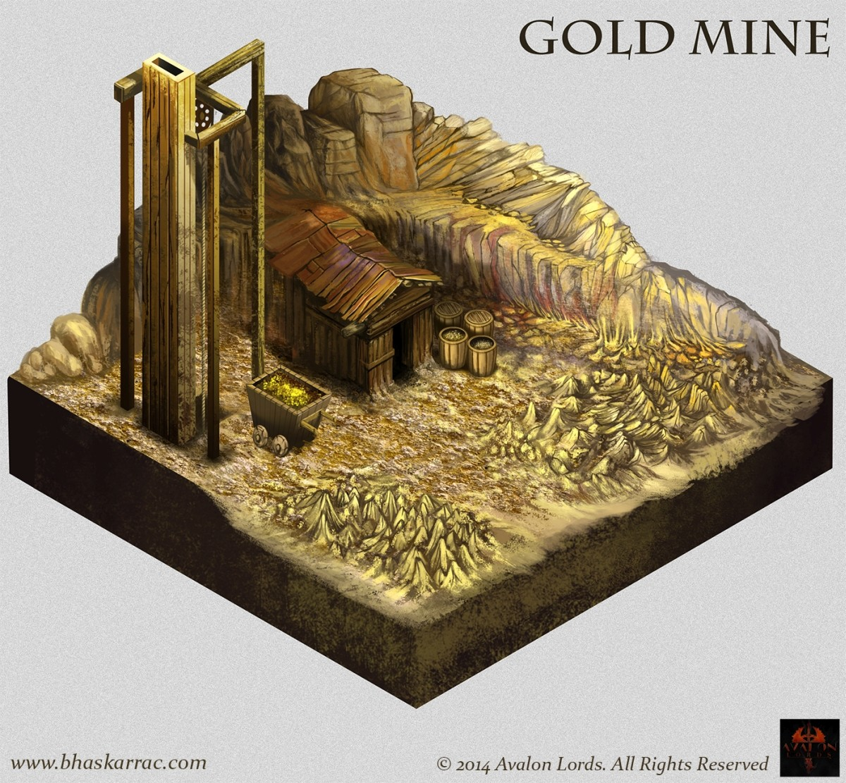 Avalon's Lord Game Concepts - Gold Mine Concept
