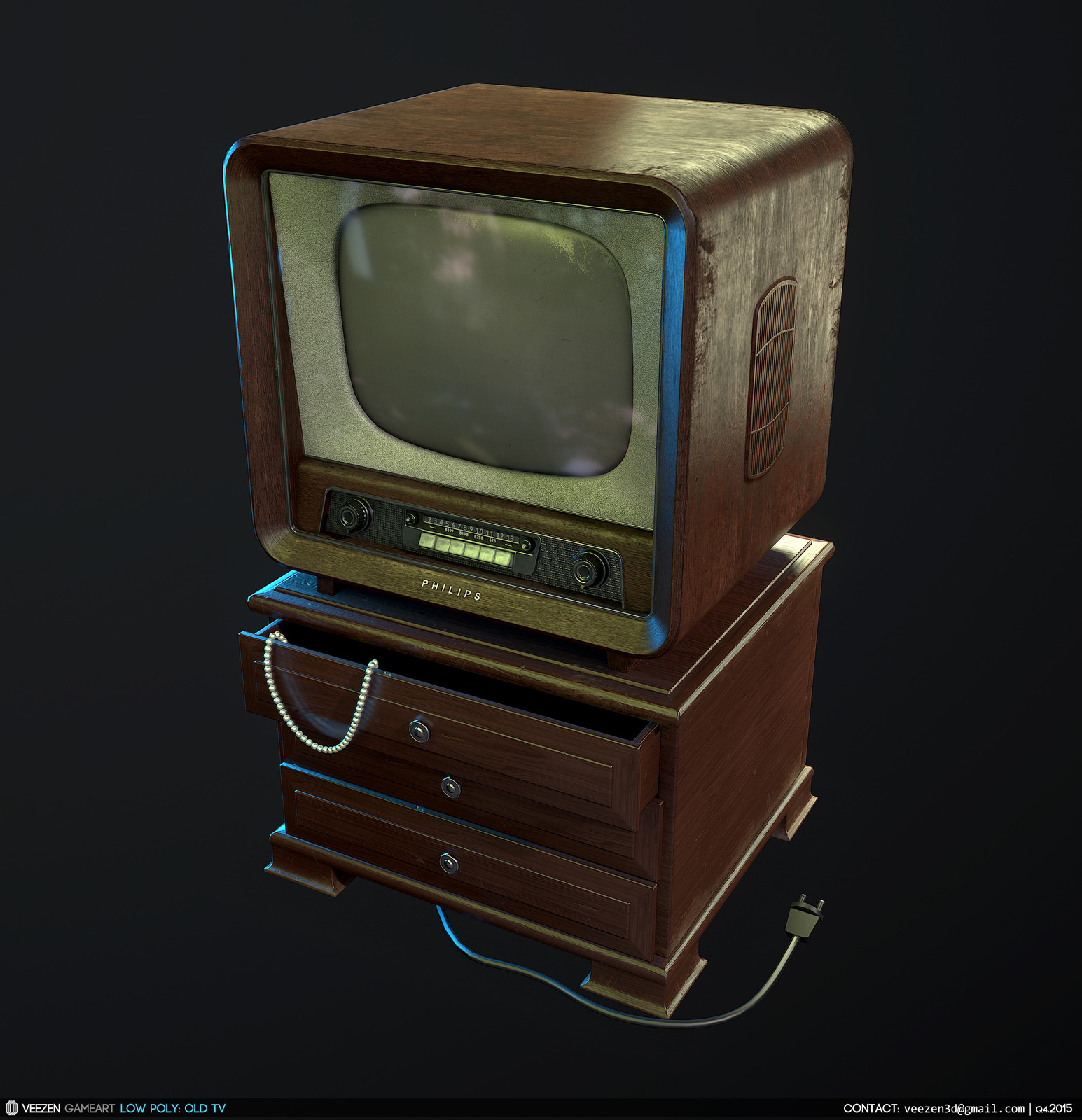 Old Philips TV Set