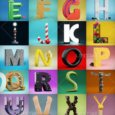 Marco baccioli 3d alphabet 01