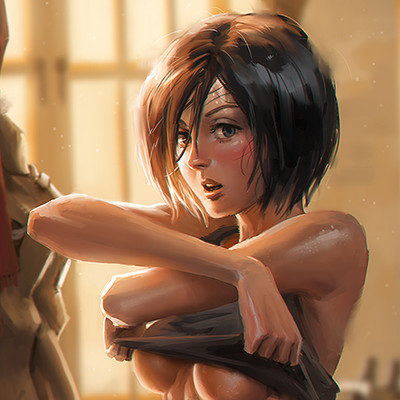 Albert urmanov eren mikasa ackerman fan art by albyu d9dmuaw