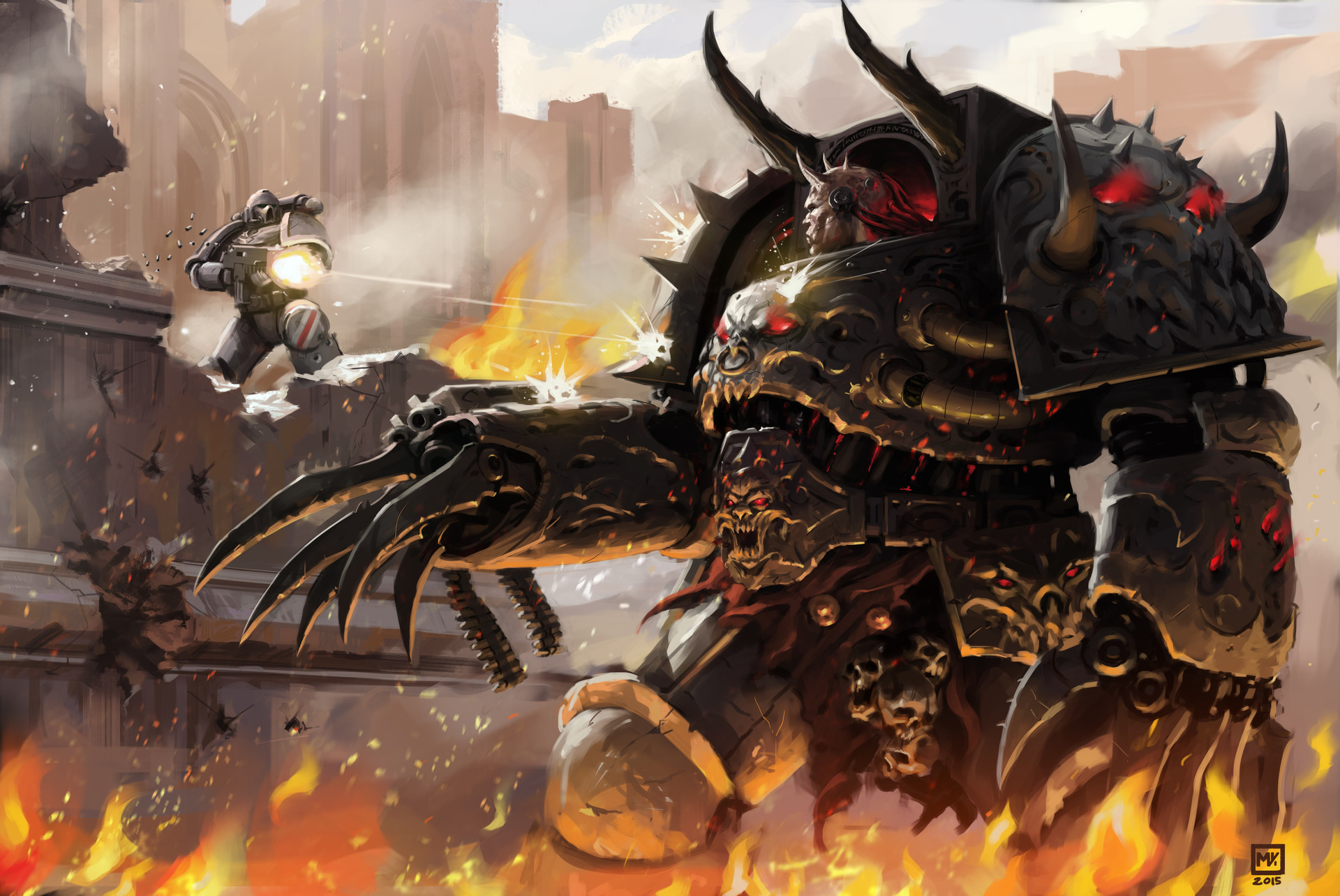 ArtStation - WarHammer 40k_Chaos Lord Astaroth_ Fan art ...