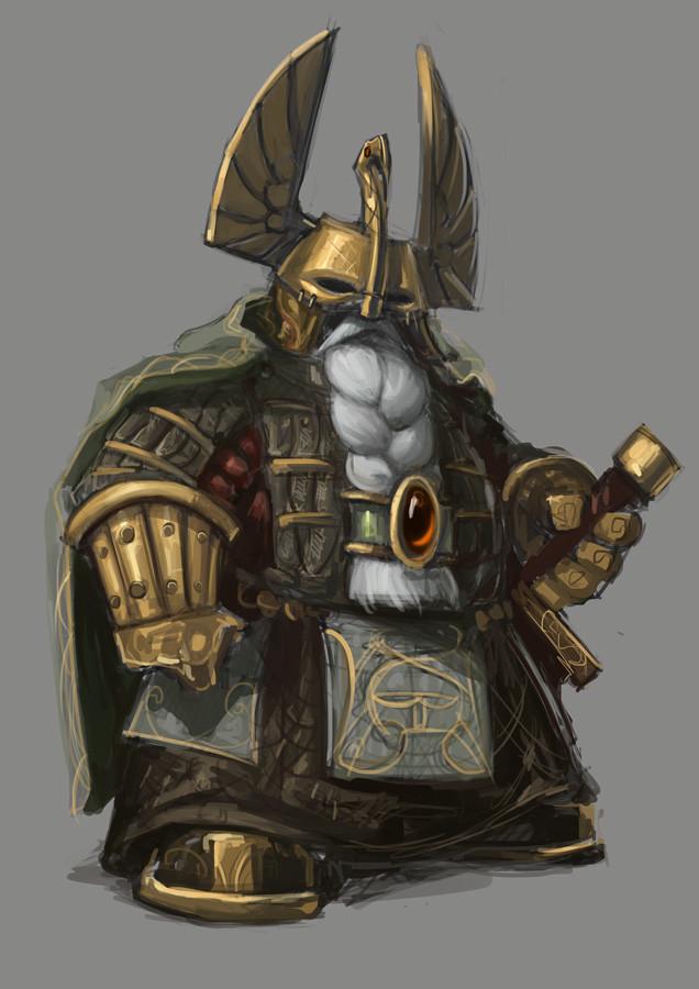 Dwarf Warrior Sketch