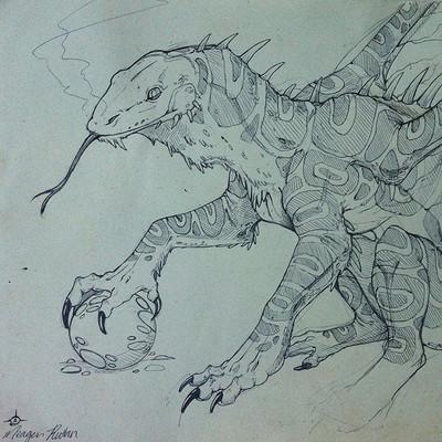 Meagen ruttan boa dragon inktober