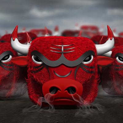 Tomislav zvonaric bulls ios icon running bulls scene 800x600 dribbble