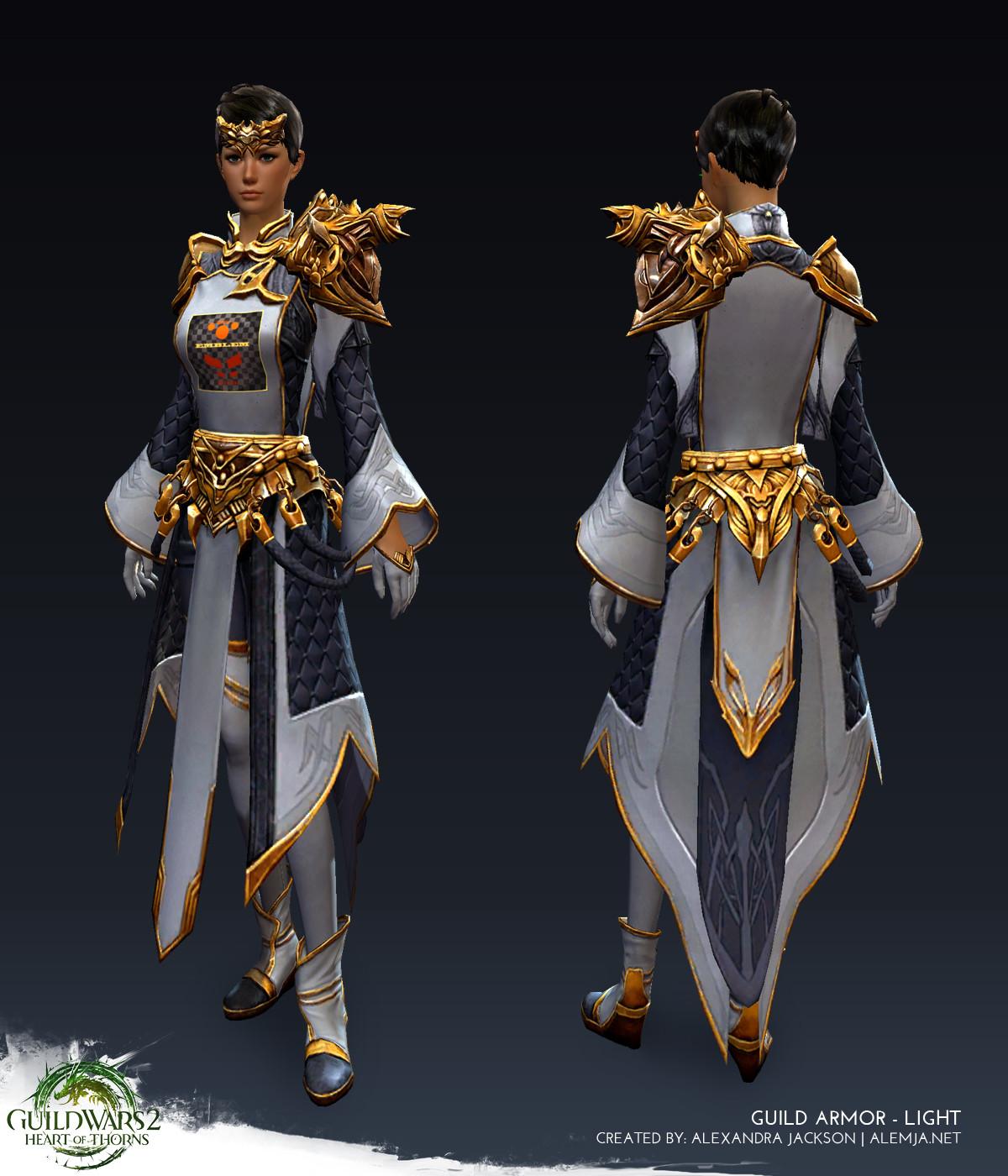 Guild Wars 2: Heart of Thorns - Light Female Guild Armor