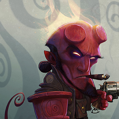 HELLBOY caricature  for Imagine FX