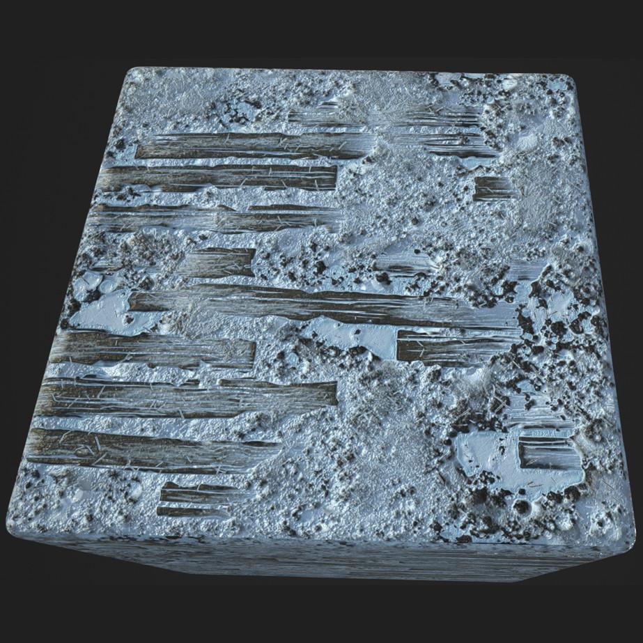 Substance_Designer - 100% procedural Frosty_Ground