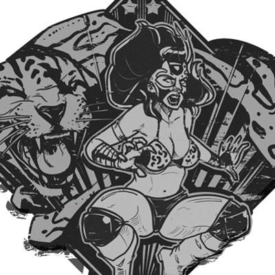 Marcin sobon mexican wrestlers stickers